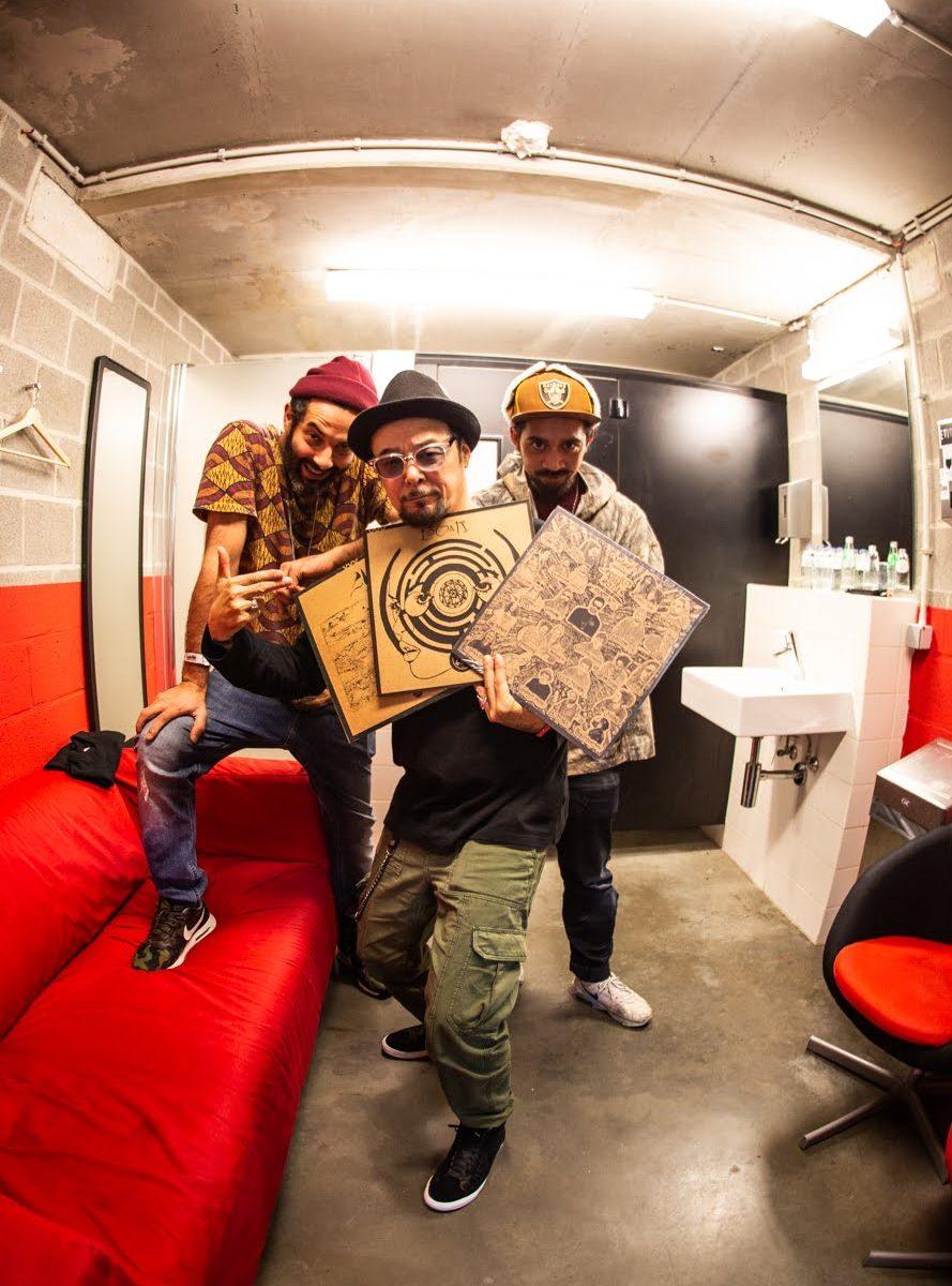 KUTMAH, DJ Krush, DAGGERDX (by Atsushi Harada)